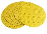 Flex geel velcro schuurpapier Ø225mm K150